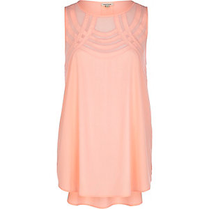 Coral curved mesh panel shell top