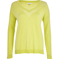 Light green mesh panel jumper