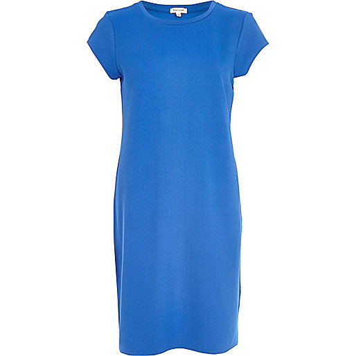 Blue t-shirt column dress