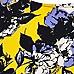 Yellow floral print swing dress