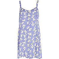 Lilac Chelsea Girl bird print dress