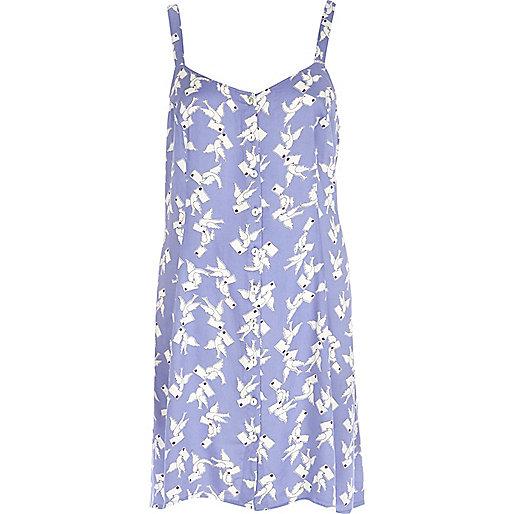 Lilac Chelsea Girl bird print dress