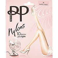 Black Pretty Polly gloss tights