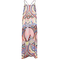 Light pink tribal print maxi dress