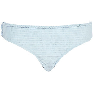 Light blue frilly back bikini bottoms