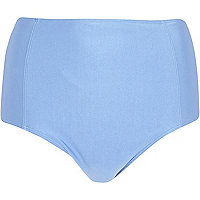 Light blue high waisted bikini bottoms