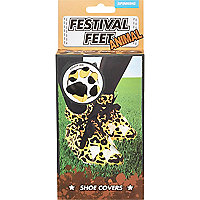 Animal print festival feet shoe covers