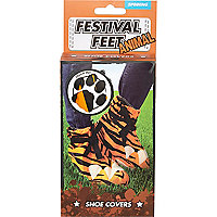 Tiger print festival feet shoe covers