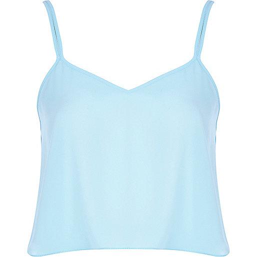 Light blue cami crop top