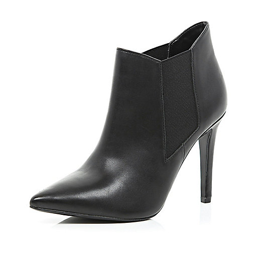 Black point stiletto ankle boots