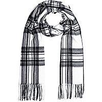 White tartan blanket scarf