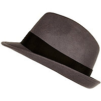 Dark grey trilby hat