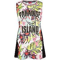 Pink Paradise Island mesh tunic