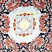 Navy paisley print satin square scarf