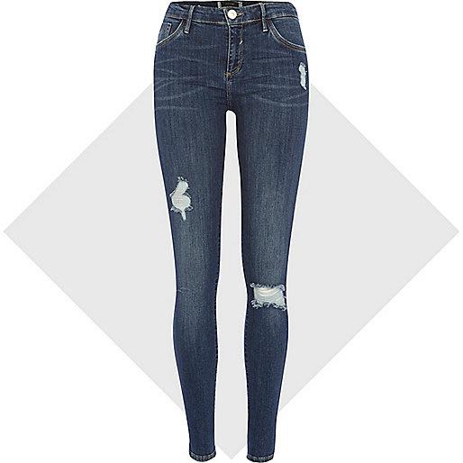 Dark wash Amelie superskinny reform jeans