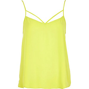 Lime strappy cami top