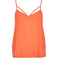 Orange strappy cami top