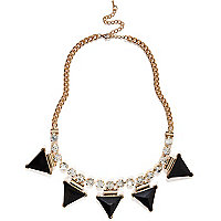 Black spike repeat necklace
