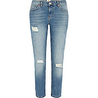 Light wash Eva girlfriend jeans