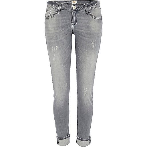 Grey Daisy slim jeans