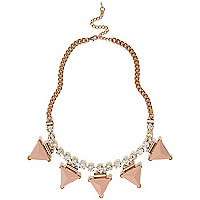 Light pink spike repeat necklace