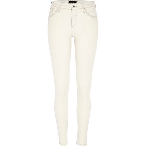 Washed cream Amelie superskinny reform jeans