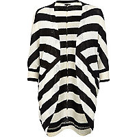 Black and white stripe slouchy cardigan