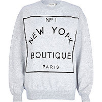 Grey New York Boutique print sweatshirt