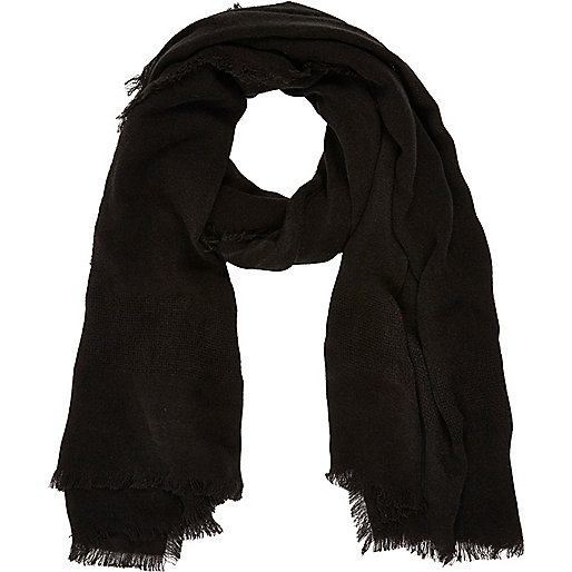 Black gauze laddered scarf