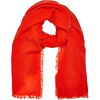 Orange gauze laddered scarf