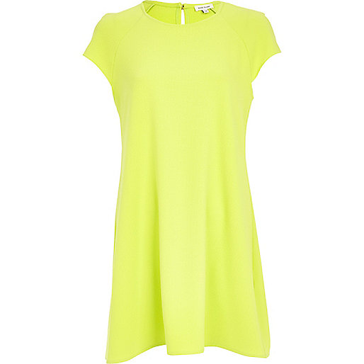 Lime swing dress