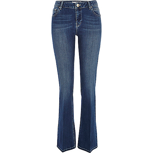 Mid wash Alice kick flare jeans