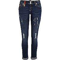 Dark wash padlock trim Matilda skinny jeans