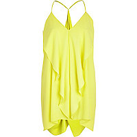 Yellow longline draped cami top