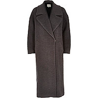 Grey woollen maxi coat