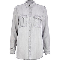 Light grey lightweight denim shirt