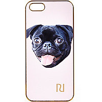 Light pink pug print iPhone 5 case