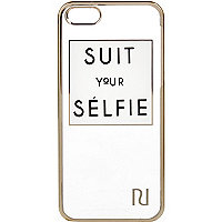 White suit your selfie iPhone 5 case