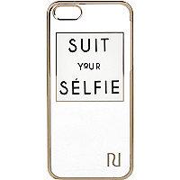 White suit your selfie iPhone 5 case