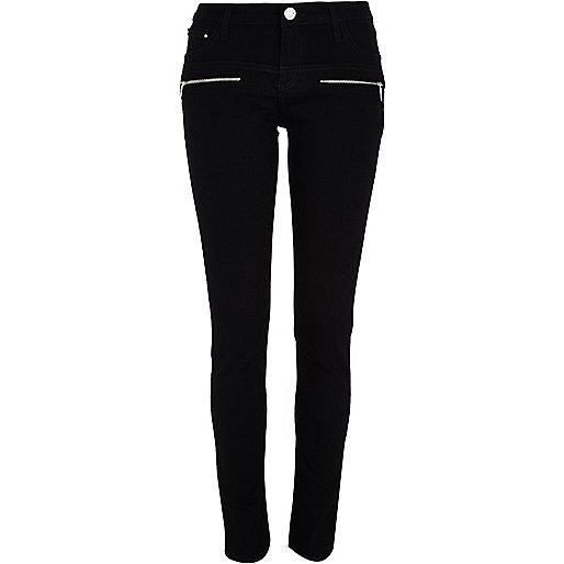 Black superskinny jeans