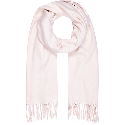 Light pink supersoft blanket scarf