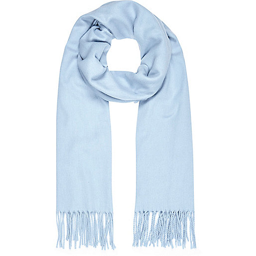 Light blue supersoft blanket scarf