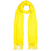 Yellow supersoft blanket scarf