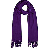 Purple supersoft blanket scarf