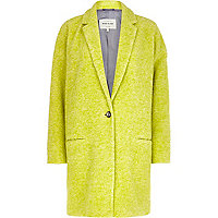 Yellow oversized coat