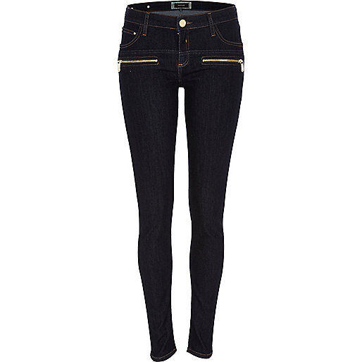 Dark wash superskinny jeans