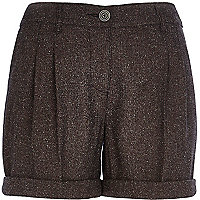 Dark grey smart shorts