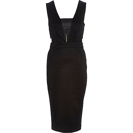 Black cut out pencil dress