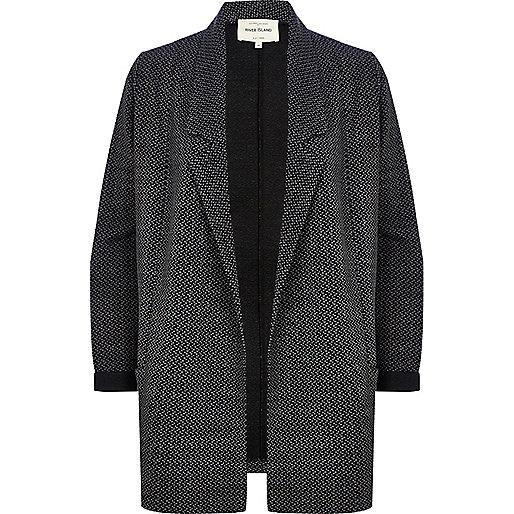 Black spot jersey jacket