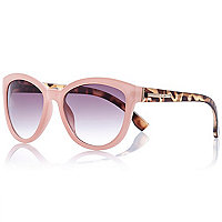 Light pink contrast arm sunglasses